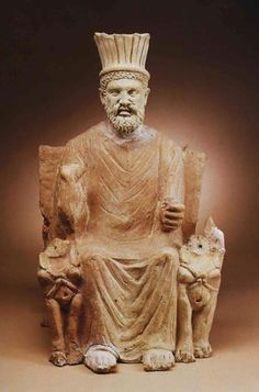 Statue of Baal Hammon; the chief god of Carthage. The National Bardo Museum (Tunis).