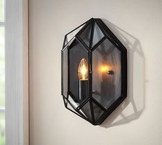 Faceted Indoor/Outdoor Sconce #potterybarn