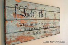 {Lead Me} Barn Door Sign
