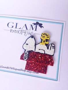 Knotts inspired hair clip Snoopy hair clip by GlamBOWtiqueShop, $16.00