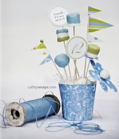 Centerpiece Decorations for Baby Showers Birthdays by cathyswraps, $18.00