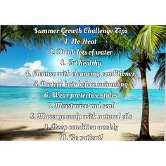 Summer growth challenge tips