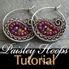 de Cor's Handmade Jewelry: Paisley Hoops Earrings, Wire Jewelry Tutorial