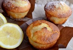 muffin al limone,muffin,dolci veloci,dolci per colazione,le ricette di tina,dolci semplici, Sweets Recipes, Muffin Recipes, Cake Recipes, Pancake Muffins, Sicilian Recipes, Cupcakes, Italian Desserts, Biscuit Recipe, Latte