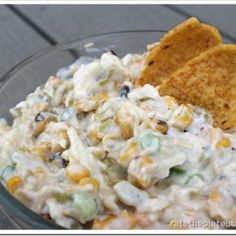 Grilled Corn and Green Chile Dip