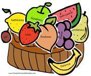 Vruchten van de Geest uitprinten en opplakken (kan ook z/w uitprinten en inkleuren) // Fruit of the Spirit Craft