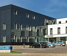 Finishes : Glassic – Clip-fixed glass façade with panes of colour-coated glass Glass Facades, Cladding, Multi Story Building, It Is Finished, Colour, Police, Color, Colors