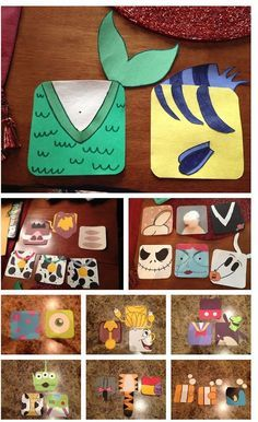 Disney pairs door decs/ Ariel and Flounder; Sully and Mike, etc