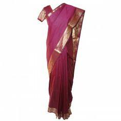 Sari rouge bordeaux en soie traditionnel de l'Inde du sud Avec bustier et jupon http://www.merabarata.fr/saris-indiens/548-sari-indien-soie-rouge-bordeaux.html