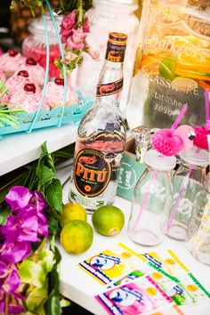 Caribbean Party Decorations, Water Bottle, The Originals, Drinks, Parties, Wedding Ideas, Wedding, Drinking, Fiestas