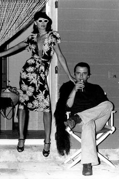 Anjelica Huston and David Bailey, Corsica, 1973.
