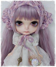 OOAK Custom Blythe Art Doll Lavender ~BY Foxtail