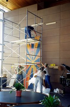 #TBT New art was placed in the Good Samaritan Society's Jerstad Center in Sioux Falls in the summer of 2000. The Jerstad Center was dedicated in 1999 and featured a Great Room for large gatherings, a 34-room retreat center, office space and conference rooms, it also included a television studio with satellite capabilities. #GoodSamaritanSociety