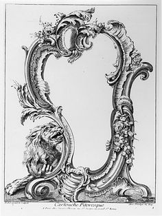 Print, Cartouche Pitoresque, 1700–1775