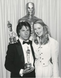 With Dustin Hoffman and their Oscars at the 1979 Academy Awards
