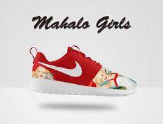 Custom Nike Roshe Run Mahalo Nike Roshe Run Red Nike by MindysLab, $230.00