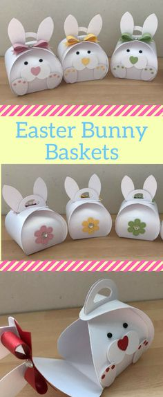 How cute are these Easter bunny baskets! | Easter Gift Box | Easter Favour | Easter Decorations #eastereggs #easterbunny #easterbasket #eastercrafts #affiliatelink