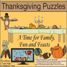 50% off special -THANKSGIVING PUZZLES Set - A Time for Family, Fun and Feasts! (limited time offer - sale ends Sunday, Nov. 27, 2016)