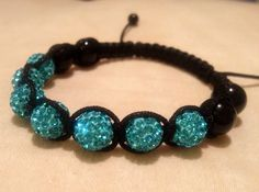 Turquoise discoball beads