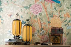 Patterned tiles inspired by 17th century tapestries