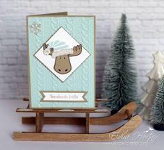 Verschneite Grüße, Stampin Up, Jolly Friends , Christmas Moose, Childrens Christmas, Stampin Up Christmas, Christmas Greetings, Holiday Cards, Christmas Cards, Christmas 2016, Cards For Friends, Winter Cards