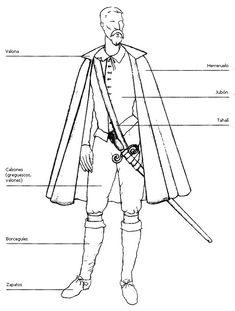 Indumentaria. Don Quijote vestido de diario.