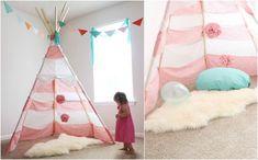 Deko Ideen für die Spielecke mit Tipi Zelt