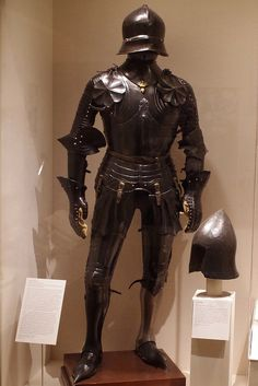 Germany and Italy, late 15th century. United States (New York, Leonard Hugel and Harvey Murton), about 1926. The helmet and some body, arm, and leg pieces are original. Bashford Dean required The Met's armorers to sign and date reproduction pieces; this was not done for this armour in his personal collection, but correspondence indicates the work was done by Hugel and Murton.