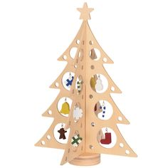 Wooden Christmas tree from Muji. Fine Motor Practice...attach all the ornaments.