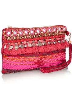 Could DIY this Matthew WilliamsonSwarovski crystal-embellished suede wristlet