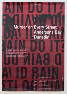 Murder on Every Street || Massey on Behance