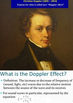 Today in 1803 Christian Doppler was born. He discovered the Doppler effect that we use in our radars