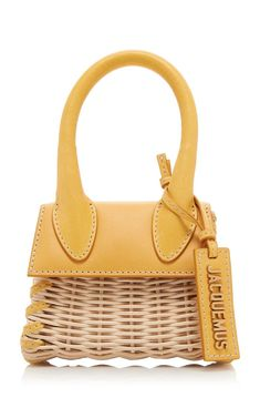 Le Chiquito Wicker Top Handle Bag by Jacquemus Simple Sandals, Womens Designer Bags, Versace, Mellow Yellow, Luxury Bags, Fashion Bags, Fashion Handbags, Fashion Trends, Purses And Handbags