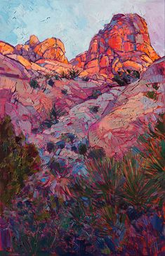 Boulder Dawn Painting by Erin Hanson