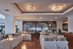 Rich breakfast buffet is set up in order to offer you a flavourable beginning to the day! Grecian Bay, Ayia Napa, Breakfast Buffet, Five Star Hotel, Crystal Clear Water, Cyprus, Restaurant, Table Decorations, Luxury