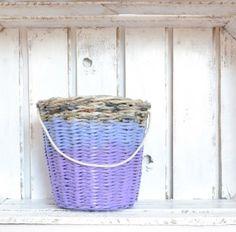 koszyk ombre z bawełnianym sznurkiem