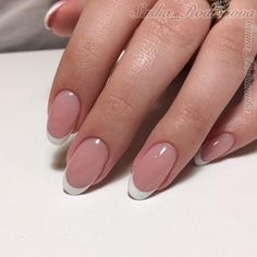 french nails bride Manicures in 2020 Shellac Nail Art, Nail Polish Art, Acrylic Nails, Diy Nails, Cute Nails, Pretty Nails, French Nail Designs, French Tip Nails, French Toes