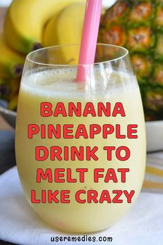 Banana Pineapple Drink To Melt Fat Like Crazy – detox smoothie recipes Fruit Smoothies, Healthy Smoothies, Healthy Drinks, Smoothie Diet, Smoothie Packs, Healthy Meals, Healthy Eating, Healthy Recipes, Milkshakes