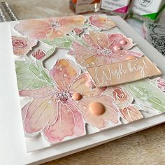 Studio Cards, Birthday Sentiments, Pretty Pink Posh, Different Shades Of Pink, Embossed Cards, Card Tutorials, Paper Roses, Cool Diy Projects, Flower Cards