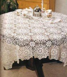 Lace Tablecloths Bedspreads Patterns Filet Book Thread Vintage Designs
