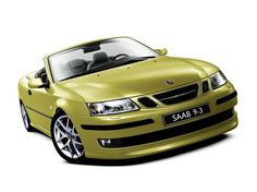 Lime Yellow Saab - how I miss my baby x