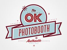Completely lovin' this logo! It makes me wanna take photobooth pics.  And make funny faces.