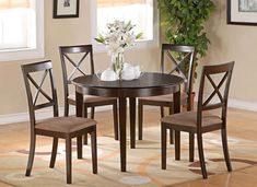 100+ Round Kitchen Table with Chairs - Rustic Kitchen Decorating Ideas Check more at http://cacophonouscreations.com/round-kitchen-table-with-chairs/