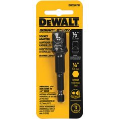 """Shop DEWALT 1/4"""" Hex Shank to 1/2"""" Socket Adapter at Lowes.com"""