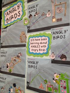 Teaching kids about angles using Angry Birds. We called it 'Angly Birds'. The kids LOVED it! Grade 6 Math, Fourth Grade Math, 4th Grade Classroom, Math Classroom, Grade 3, Math Teacher, Teaching Math, Math Resources, Math Activities