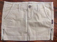 SILVER JEANS SALE Taylor Khaki Cargo Distressed Zipper Mini Short Skirt 28  | eBay