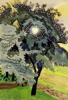 1910-again:  Charles Burchfield, The Luminous Tree, 1917