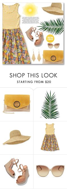 """""""Today Was Good"""" by majezy ❤ liked on Polyvore featuring Halston Heritage, Nika, Helen Kaminski, Schutz and Linda Farrow"""