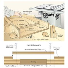 """Free plans, """"SWEET""""tablesaw crosscut sled from The Wood Smith Shop Woodworking Table Saw, Woodworking Books, Router Woodworking, Woodworking Projects, Woodworking Blueprints, Lathe Projects, Woodworking Supplies, Woodworking Techniques, Woodworking Furniture"""