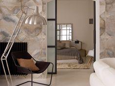 Carta da parati effetto pietra geometrica panoramica K'OP Collezione Giocoadue by Inkiostro Bianco design Giocoadue